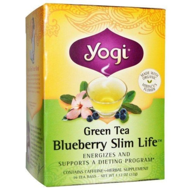 Yogi® Green Tea Blueberry Slim Life - Energizes and Supports a Dieting Program