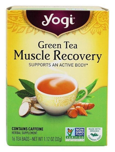 Yogi® Green Tea Muscle Recovery - Supports an Active Body