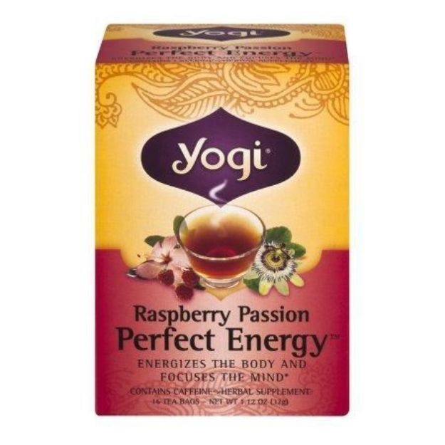 Yogi® Raspberry Passion Perfect Energy® Tea - Energizes and Supports Focus