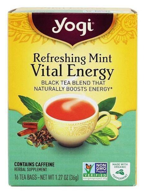 Yogi® Refreshing Mint Vital Energy Tea - Black Tea Blend that Naturally Boosts Energy