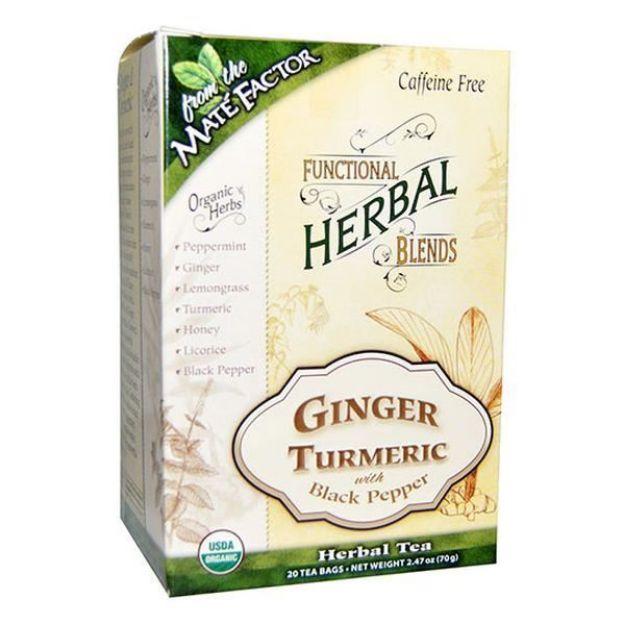 Mate Factor Ginger Turmeric with Black Pepper Herbal Tea Blend