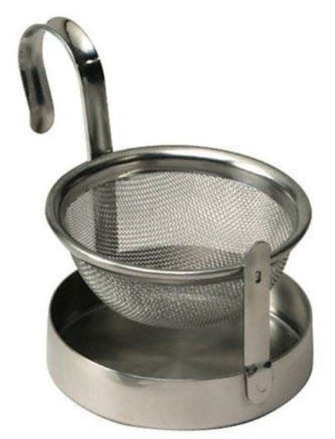 Stainless Steel Tea Strainer with Drip Pan