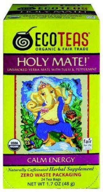 Eco Teas Holy Mate! Unsmoked Yerba Mate with Tulsi