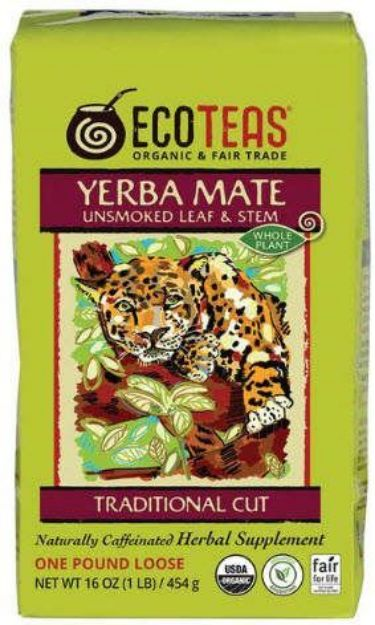 Eco Teas Unsmoked Leaf & Stem Yerba Mate Tea
