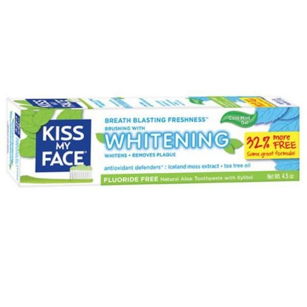 Cool Mint Whitening Fluoride Free Toothpaste  (4.5 oz., Kiss My Face)