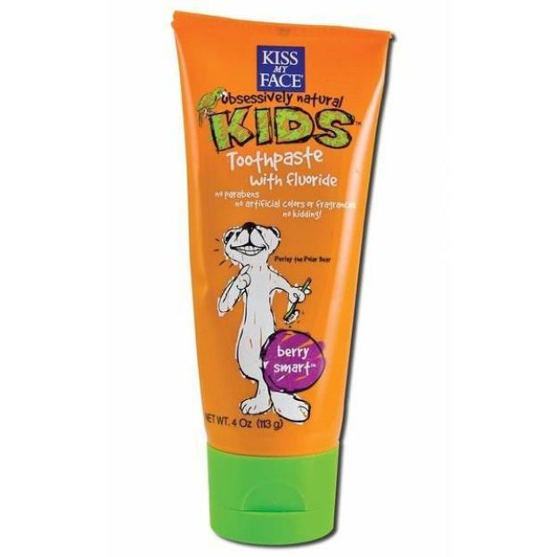 Berry Smart Toothpaste with Fluoride (4 oz., Kiss My Face)
