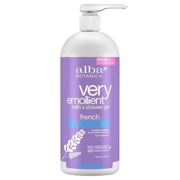 Bath & Shower Gel - French Lavender (32 fl. oz., Alba Botanica)