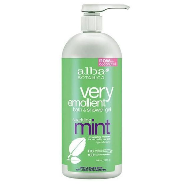 Bath & Shower Gel - Sparkling Mint (32 fl. oz., Alba Botanica)