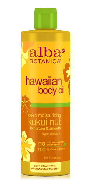 Body Oil - Kukui Nut (8.5 oz., Alba Botanica)