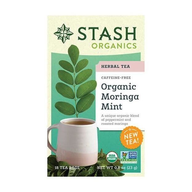 Moringa Mint (18 tea bags, Stash Tea)