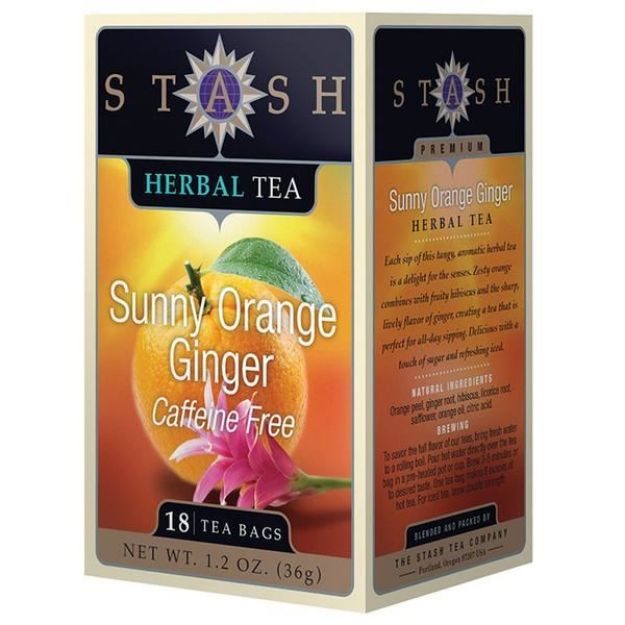 Sunny Orange Ginger (18 tea bags, Stash Tea)