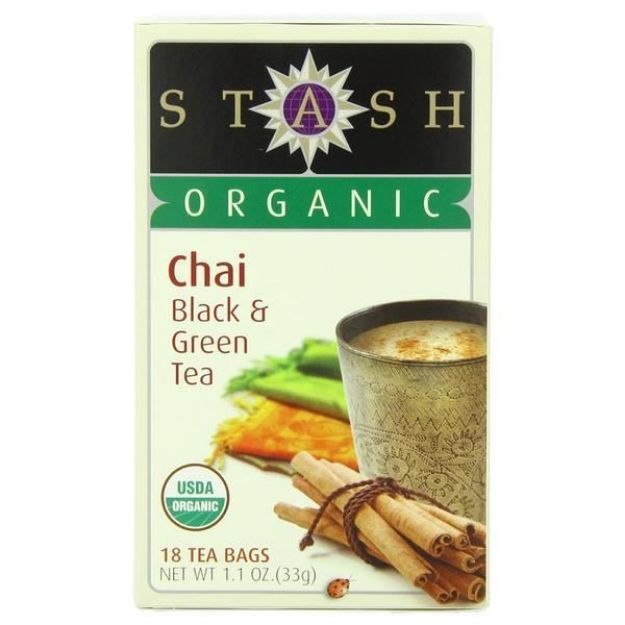 Chai Black & Green Tea (18 tea bags, Stash Tea)