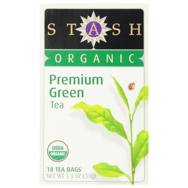 Organic Premium Green Tea (18 tea bags, Stash Tea)