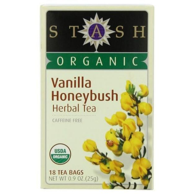 Vanilla Honeybush Herbal Tea (18 tea bags, Stash Tea)