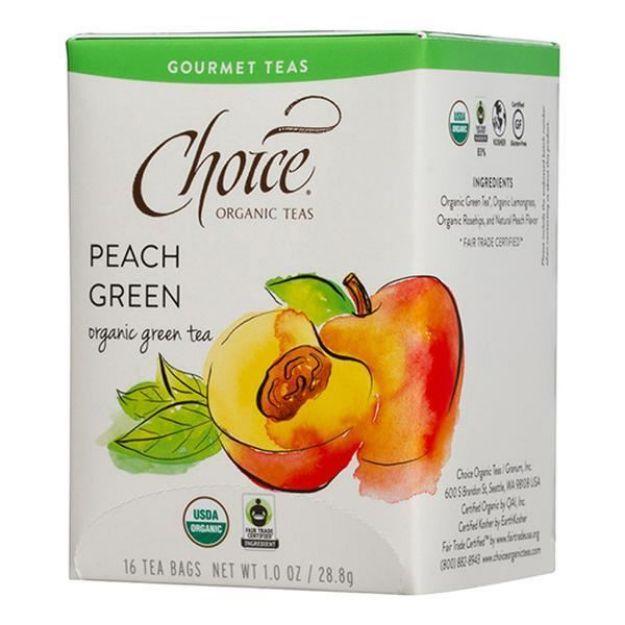Peach Green Gourmet Tea (16 tea bags - Choice Teas)