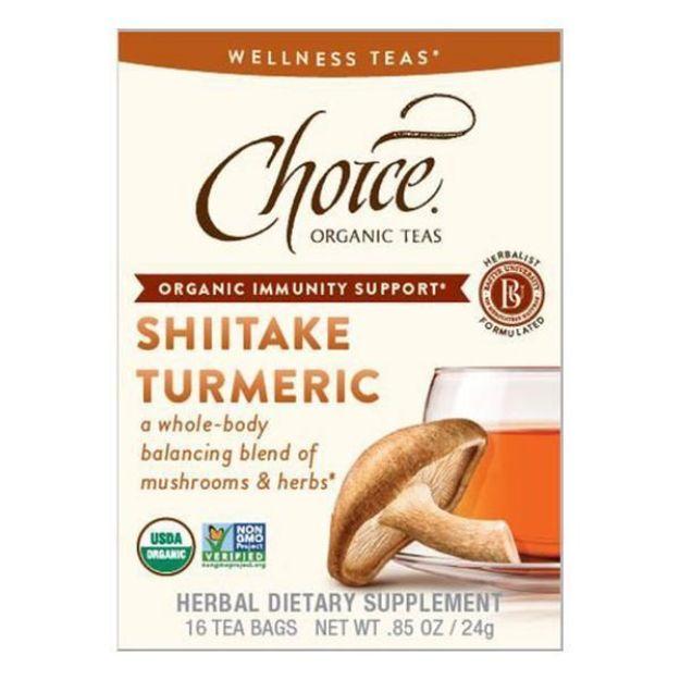 Shiitake Turmeric Tea (16 tea bags - Choice Teas)