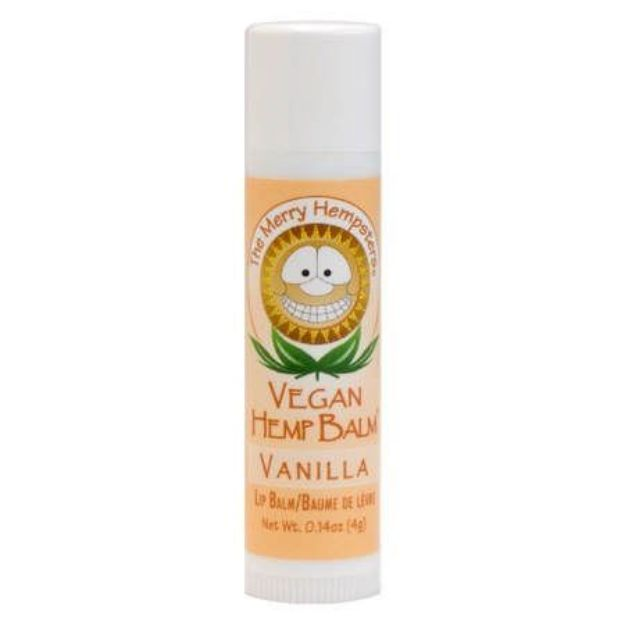 Vanilla Vegan Hemp Lip Balm (0.14 oz tube, Merry Hampsters)