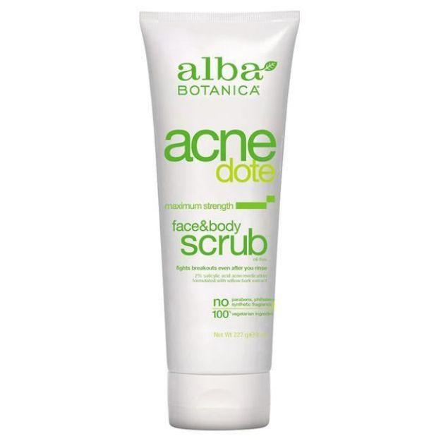 Acnedote Face & Body Scrub (8 oz., Alba Botanica)