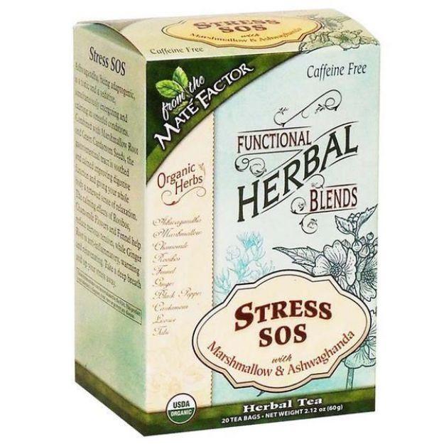 Stress SOS with Marshmallow and Ashwagandha Tea Bags (Maté Factor)
