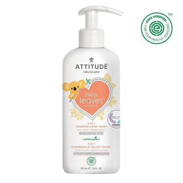 Baby Shampoo & Body Wash - Pear Nectar (16 fl. oz., Attitude)