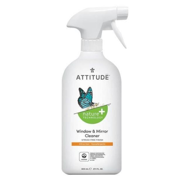 Cleaner - Window & Mirror - Citrus Zest (27 fl. oz., Attitude)