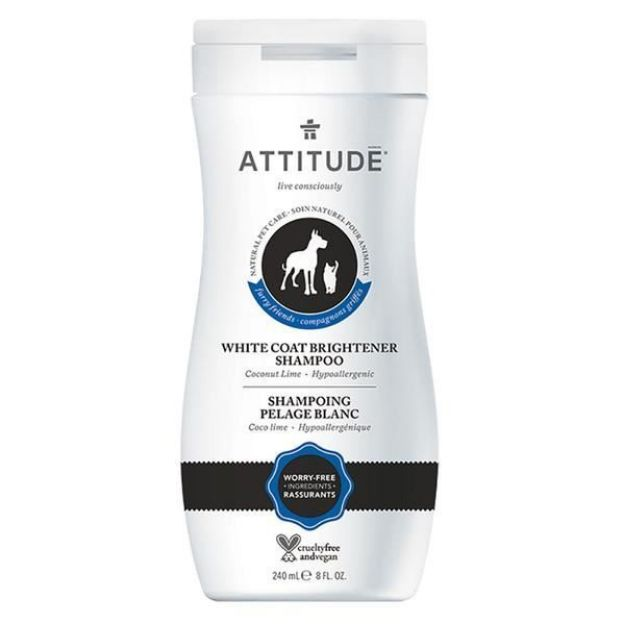 Shampoo - Pet - White Coat Brightener - Coco Lime (8 fl. oz., Attitude)