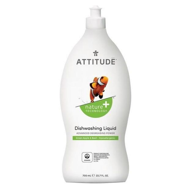 Cleaner - Dishwasher Liquid - Green Apple & Basil (23.7 fl. oz., Attitude)