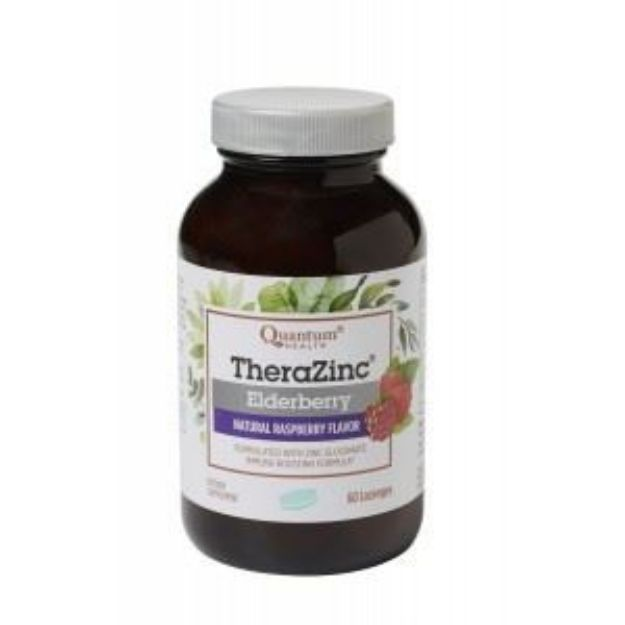 Zinc Elderberry Raspberry Lozenges (60 count, Quantum Health)