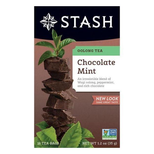 Chocolate Mint Oolong Tea (18 tea bags, Stash Tea)