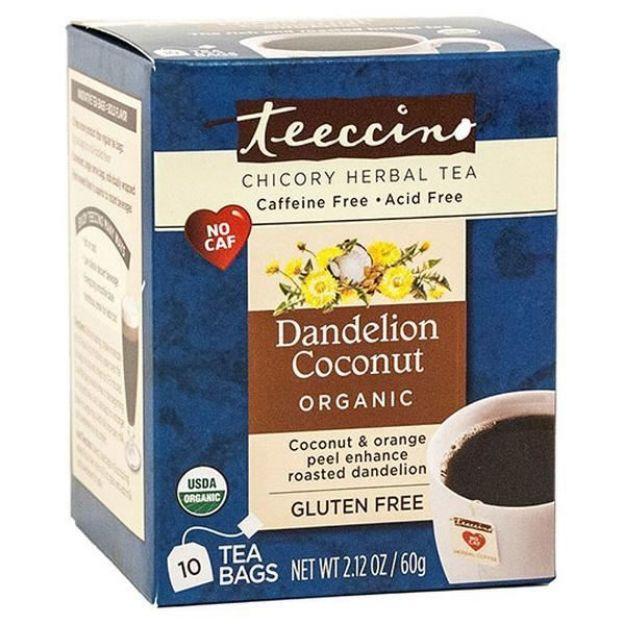 Dandelion Coconut Chicory Herbal Tea (10 bags, Teeccino)