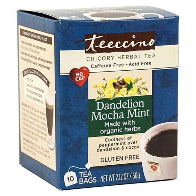 Dandelion Mocha Mint Chicory Herbal Tea (10 bags, Teeccino)
