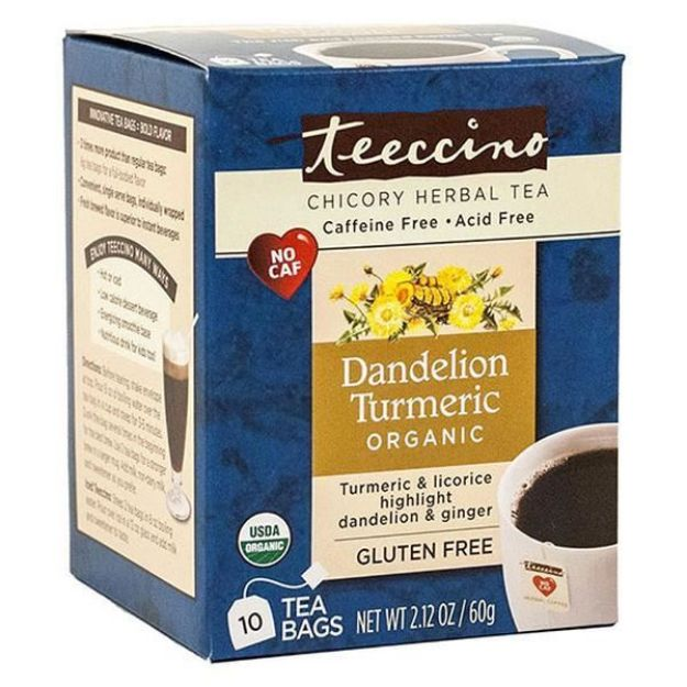 Dandelion Tumeric Chicory Herbal Tea (10 bags, Teeccino)